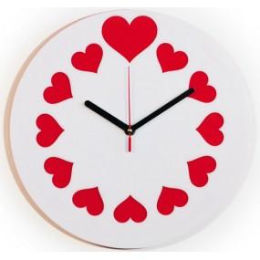 Настенные часы 12 сердец 1-0196