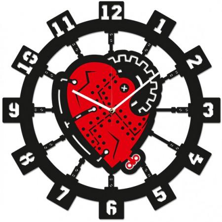 Часы настенные Сердце Стимпанк 1-0208