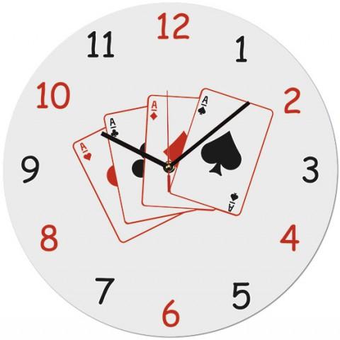 Настенные часы Игральные карты 1-0216