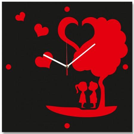 Настенные часы Поцелуй под деревом 1-0240