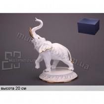 Фарфоровая фигурка Белый слон 23 см