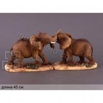 Статуэтка декоративная Нежность слонов