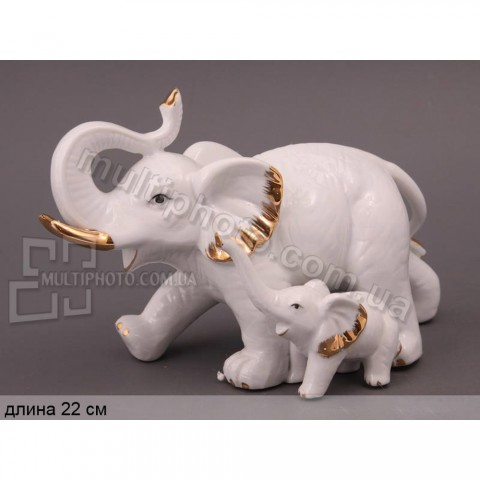 Декоративная статуэтка Слоны 22 см