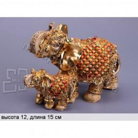Декоративные статуэтки Слониха и слоненок