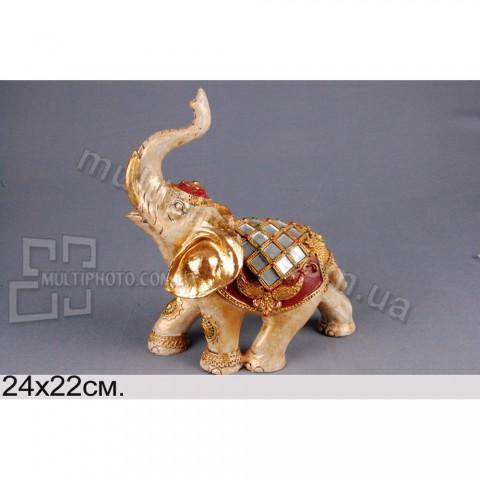 Декоративная фигурка Слон в попоне 23 см