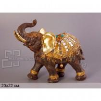 Декоративная статуэтка Слон в золоте