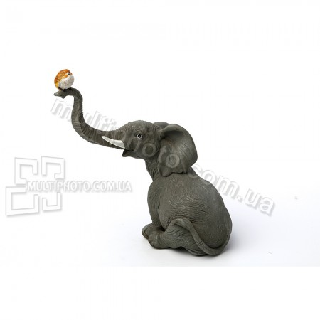 Декоративная статуэтка Слоненок и птица