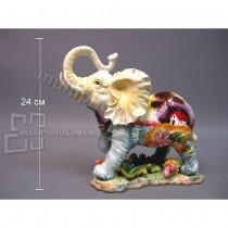 Керамическая фигурка Раскрашенный слон