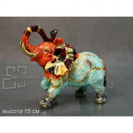 Керамическая статуэтка слона Картатый
