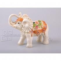 Керамическая фигурка Цветочный слон