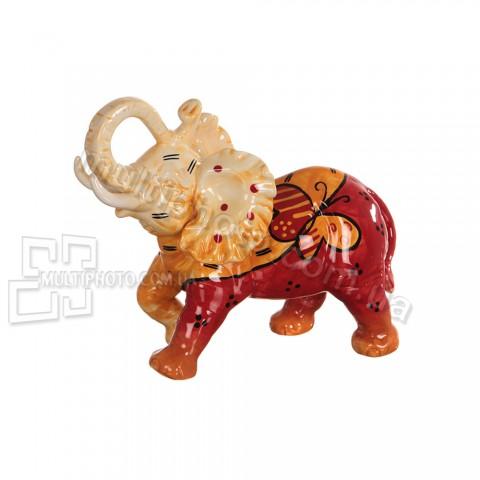 Керамическая статуэтка Слон с бабочкой