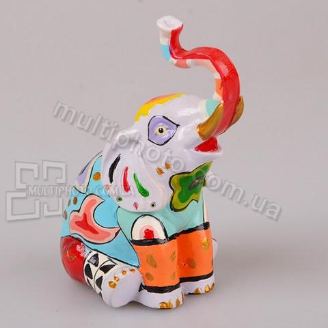 Фигурка декоративная Раскрашенный слон