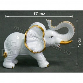 Фарфоровая фигурка Слон трубач