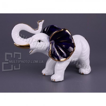 Фарфоровая статуэтка Позитивный слон