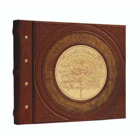 Кожаный семейный фотоальбом в стиле 19 века 519-4