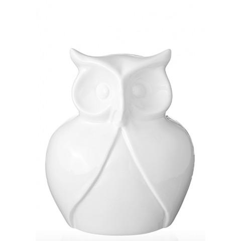 Керамическая статуэтка Eterna К 8139 Сова белая маленькая