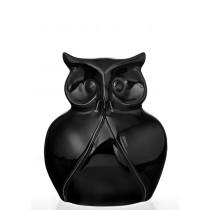 Керамическая статуэтка Eterna К 8139 Сова черная маленькая