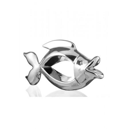 Статуэтка из керамики Eterna 4014А рыба серебряная маленькая