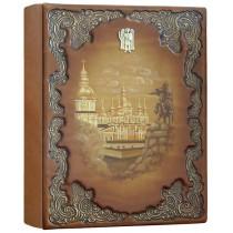 Фотоальбом формата А4+ кожаный Киевский 3