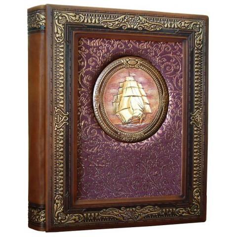 Фотоальбом формата А4+ кожаный Золотой век 3