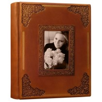 Фотоальбом формата А4+ кожаный Фамильный