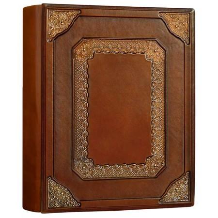 Фотоальбом формата А4+ кожаный Барокко