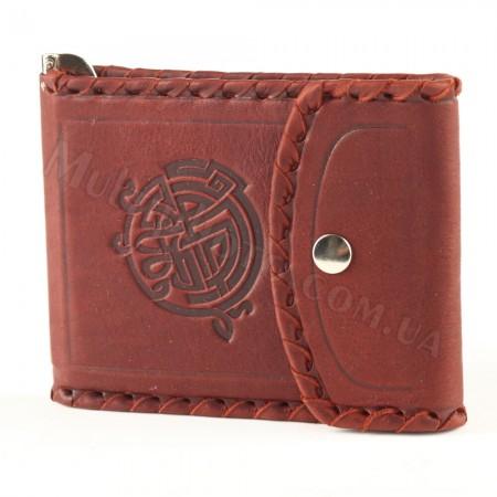 Зажим для денег мужской на кнопке Макей 568-07-01