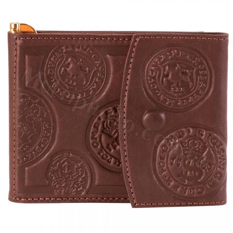 Кожаный зажим для денег Макей 568-07-03 Монеты