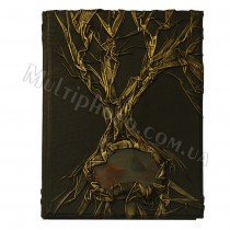Книга родословная в кожаном переплете Арт-Кажан 620-04-04 с камнем