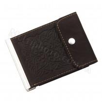 Зажим для купюр с карманом для мелочи Арт Кажан 768-10-35