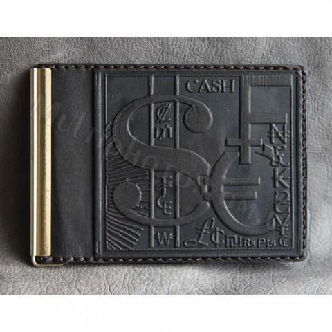 Кожаный зажим для денег мужской 868-01-26 Guk