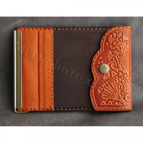 Зажим для денег кожаный 868-05-26 Guk