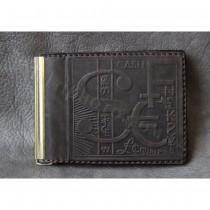 Кожаный мужской зажим для денег 868-10-26 Guk