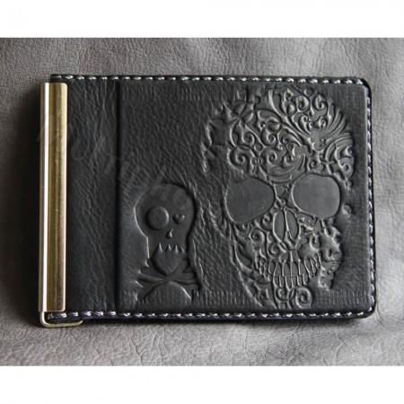 Зажим для денег натуральная кожа Guk 868-13-26 Черепок