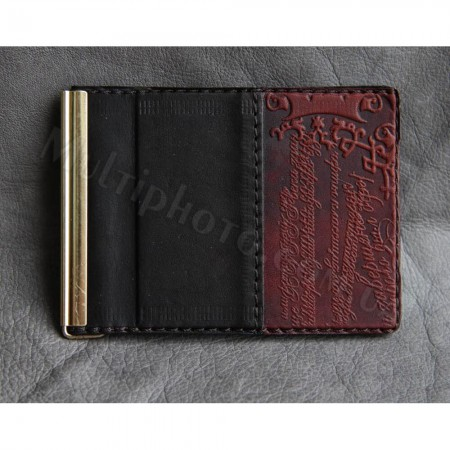 Мужской зажим для денег Guk 868-21-06 кожаный