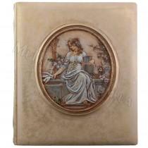 Кожаный фотоальбом Афродита художественная роспись 29x33 см