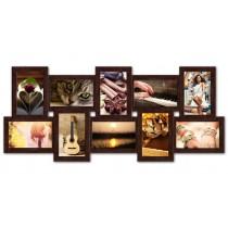 Мультирамка на 10 фото История Венге 65x35 см