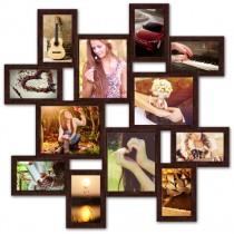 Мультирамка на 12 фото Маленькое путешествие Венге 65x65 см