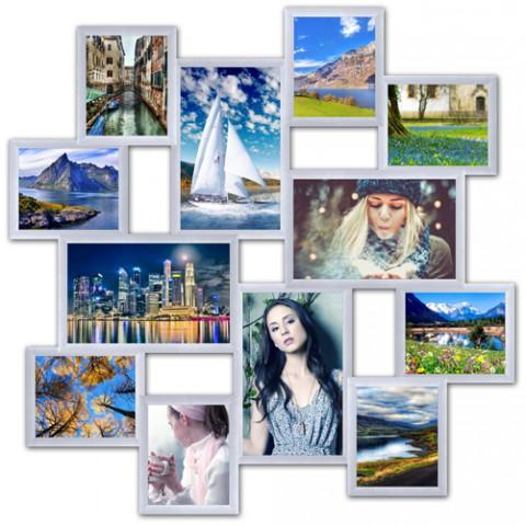 Мультирамка на 12 фото Большое путешествие Белое 90x90 см