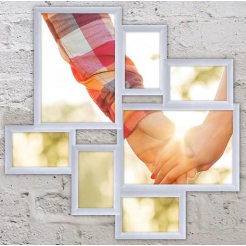Мультирамка на 7 фото Волна Любви Белый 60x60 см
