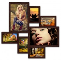 Мультирамка на 7 фото Волна Любви Венге 60x60 см