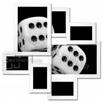 Деревянная мультирамка Волна Любви белая на 7 фото