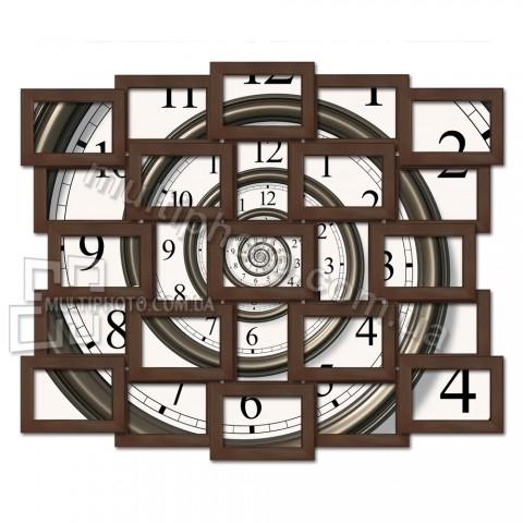 Деревянная мультирамка Венге 25 на 25 фото 85x70 см