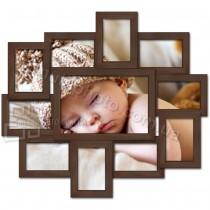 Фоторамка деревянная Гавана на 11 фотографий Венге