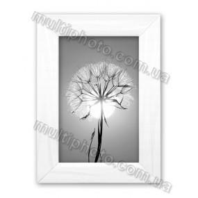 Рамка для фото из цельного дерева в белом цвете
