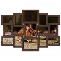 Рамка для фото деревянная цвет венге 78x56 см