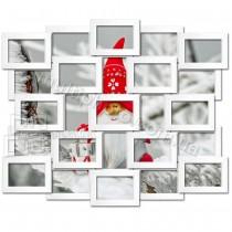 Деревянная мультирамка на  25 фото Восток белая 85x70 см