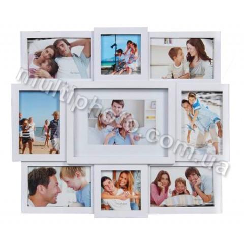 Мультирамка EVG BIN 1122618 WHITE Collage 9