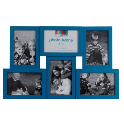 Мультирамка EVG BIN YD-47 MIX color Collage 6 blue