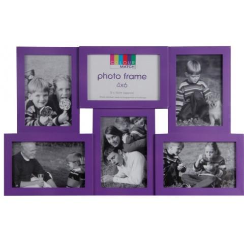 Мультирамка EVG BIN YD-47 MIX color Collage 6 violet